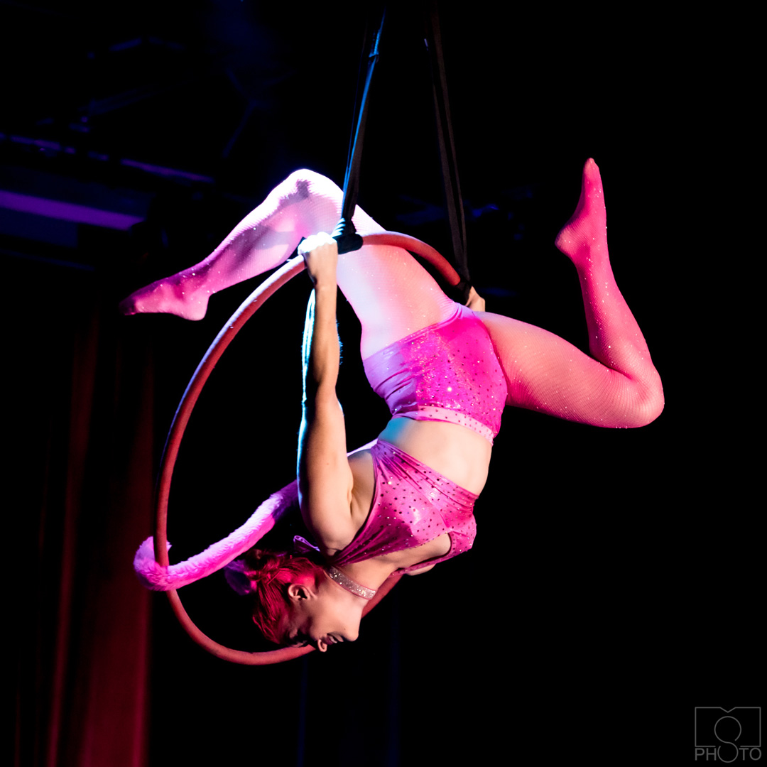 Toni performing as the pink panther