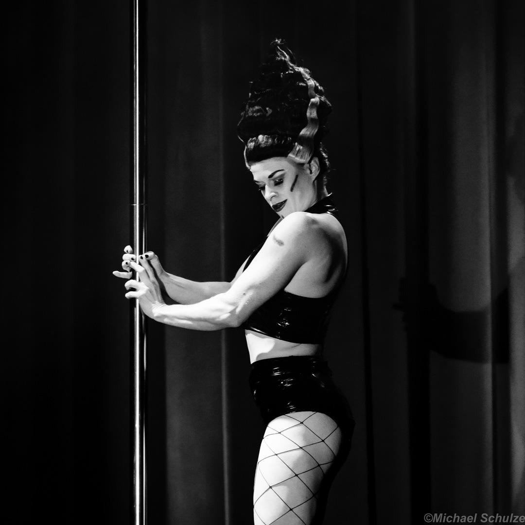 Toni performing as Bride of Frankenstein